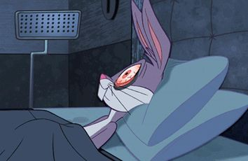bugs bunny, insomnia, looney tunes, sleeplessness, bed, awake at night