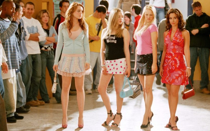 mean girls, lindsay lohan, rachel mcadams, lacey chabert, amanda seyfried, girls, high school