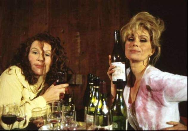 absolutely fabulous, drinking, alcoholic, alcohol, edina, patsy, jennifer saunders, joanna lumley