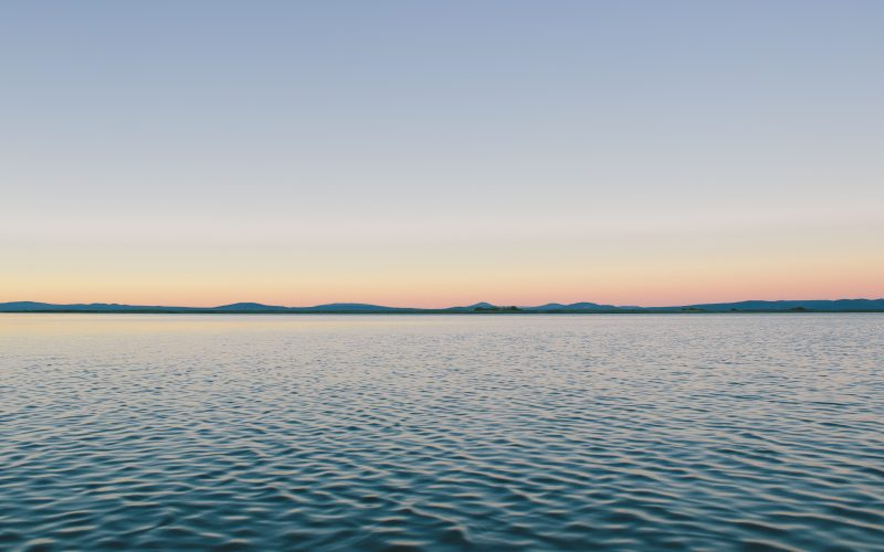 serene, calm, sea, meditation