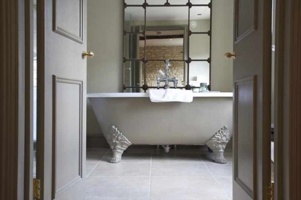 wheatsheaf inn, cotswolds, bathroom, copper bath, hotel