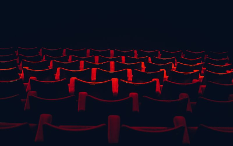 cinema, on my own, alone, empty, screen, film, movie