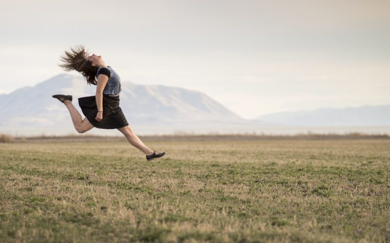 woman, jumping, carefree, happy