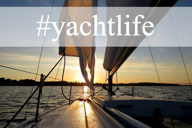 yacht, yachtlife, social media, holiday hashtag, instagram