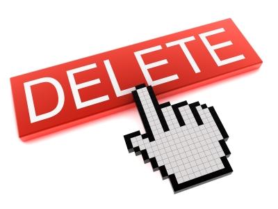 delete button, delete, email