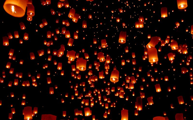 tangled, sky, lanterns, lights, disney