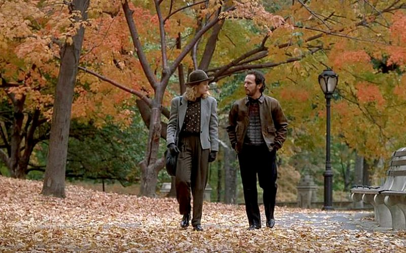 when harry met sally, autumn, love, fall, walking, leaves