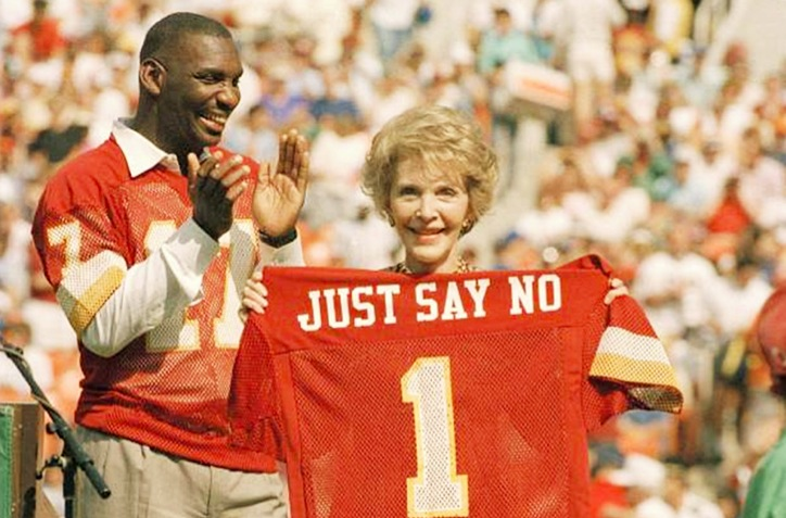 nancy reagan, first lady, ronald reagan, just say no, say no