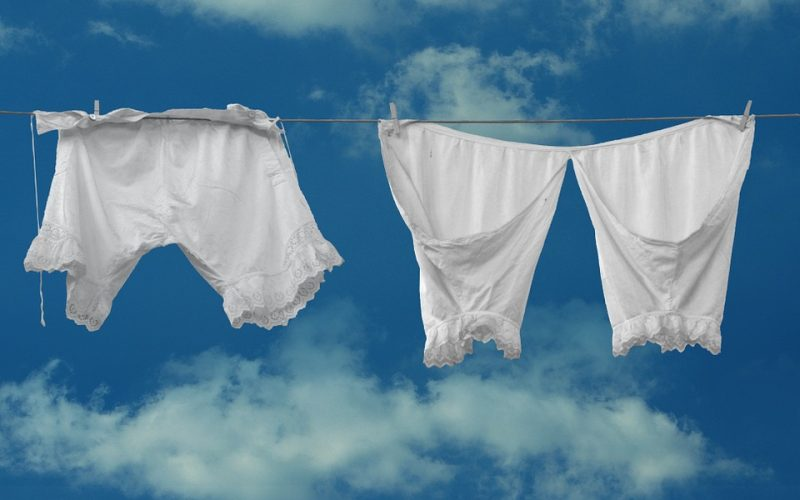 knickers, pants, lingerie, washing line