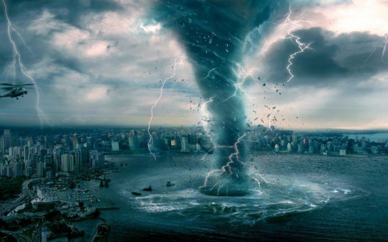 tornado, storm, sea, water, weather