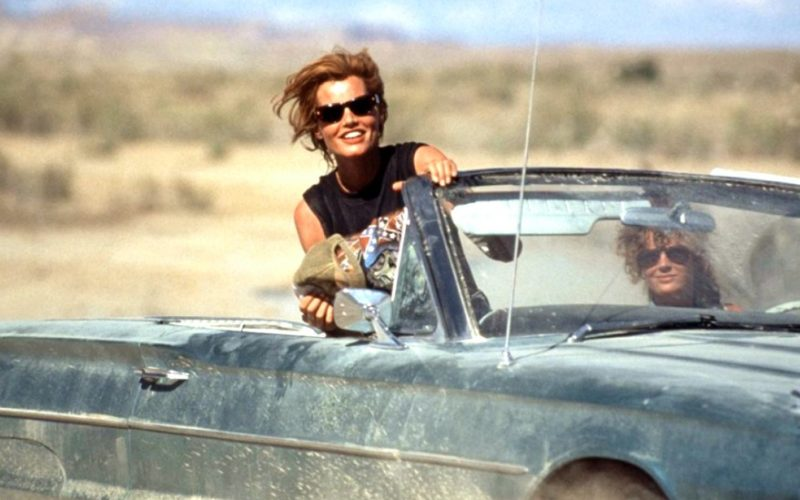 thelma and louise, running away, car, escape, money
