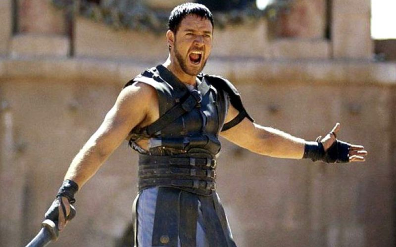 gladiator, russell crowe, fighter, angry, fuming