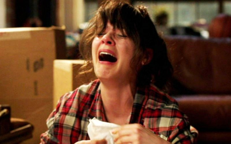new girl, zooey deschanel, ugly crying, hormonal, PMT