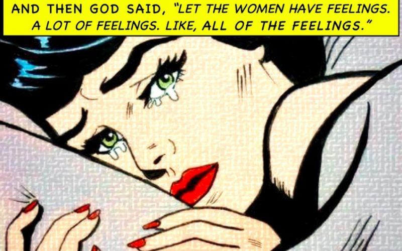 pop art, woman, feelings, emotional, sad, god's creation, all feelings
