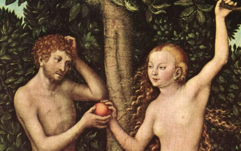 adam and eve, garden of eden, genesis, apple, temptation