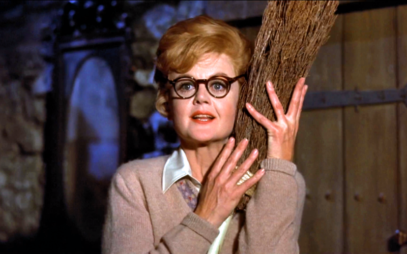 bedknobs and broomsticks, angela lansbury, broom, cleaning