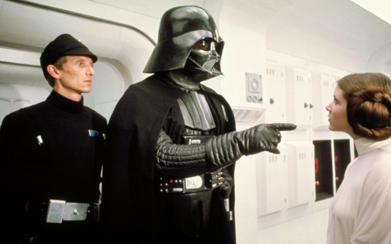 darth vader, star wars, telling off, princess leia, lecture