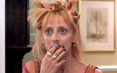 emma chambers, notting hill, 90s, hair, bjork buns, mini buns, hairstyle