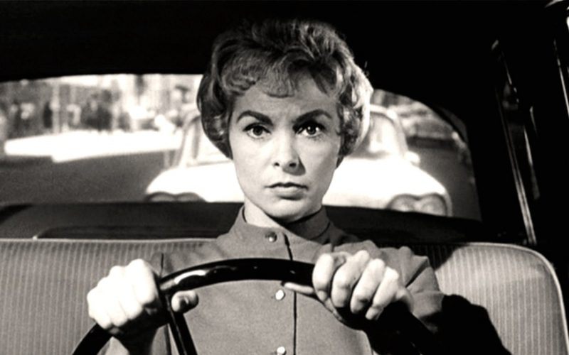 janet leigh, psycho, driving, car, speeding