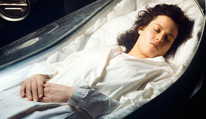 sigourney weaver, sleep, hibernation, alien, space, astronaut, winter