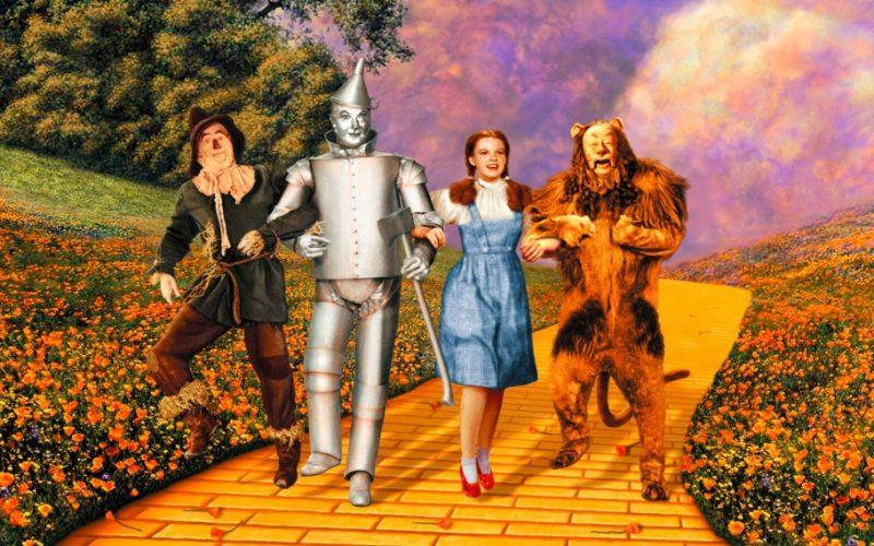 wizard of oz, yellow brick road, lion, scarecrow, dorothy, tin man, dream