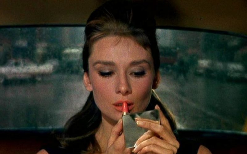 audrey hepburn, breakfast at tiffanys, red lipstick, makeup, black cab