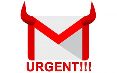 urgent email, gmail, evil, devil ears, bad emails