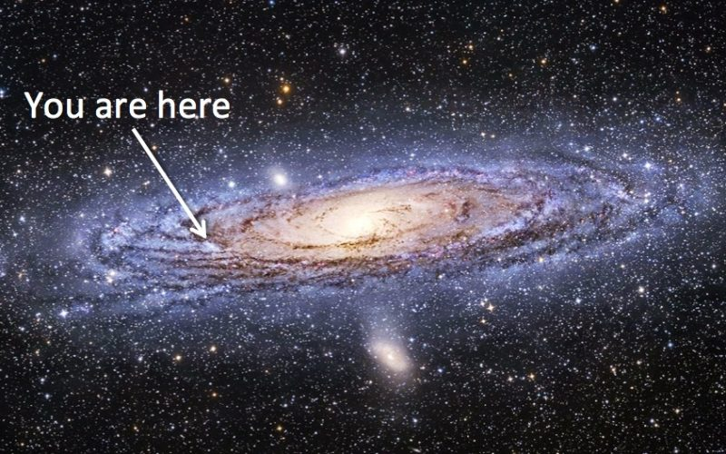 galaxy, milky way, space, you are here, map, here