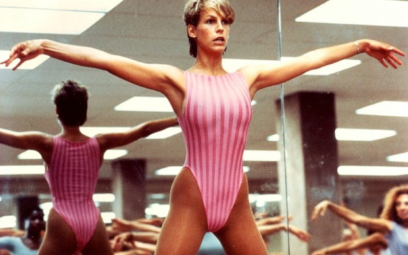 jamie lee curtis, workout, sportswear, exercise, perfect, leotard