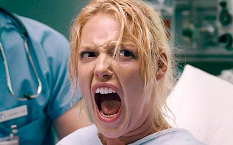 katherine heigl, knocked up, pregnant, in labour, in pain, pain threshold