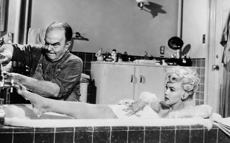 victor moore, marilyn monroe, seven year itch, bath scene, bubble bath
