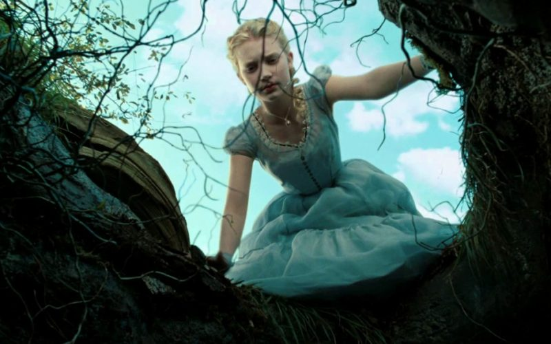 alice in wonderland, tim burton, alice, rabbit hole, fall down hole, anxiety