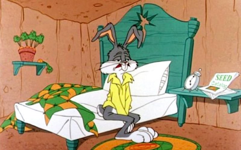 bugs bunny, looney tunes, insomnia, sleeplessness, bed, worry, brexit