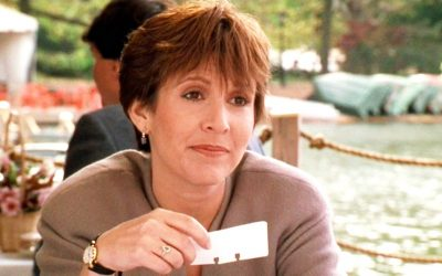 carrie fisher, when harry met sally, rolodex, going through names, someone else is married to my husband, married, dead