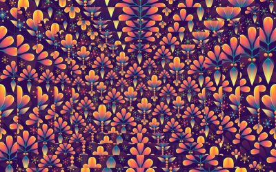 floral, pattern, double print, optical illusion, dare to double print