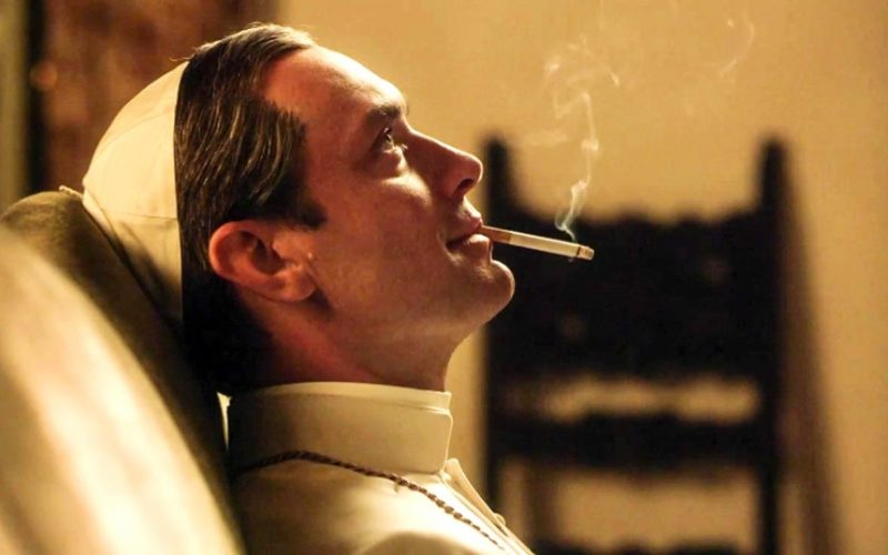 young pope, jude law, smoking, lent, giving up