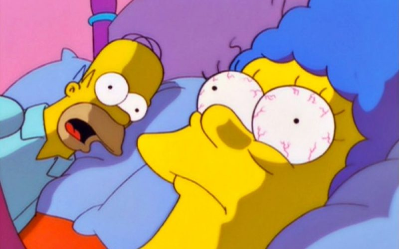 marge simpson, shocked, bed, dodgy sex dream, dream lover, simpsons
