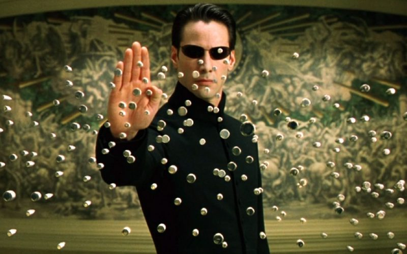 matrix reloaded, tech, gadgets, fight scene, bullets