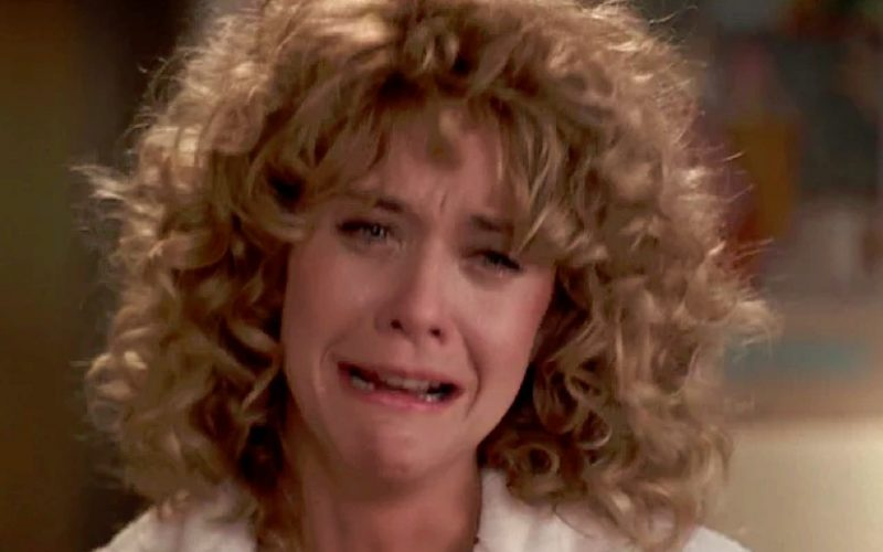 meg ryan, crying, when harry met sally, types of crying, tears, sobbing