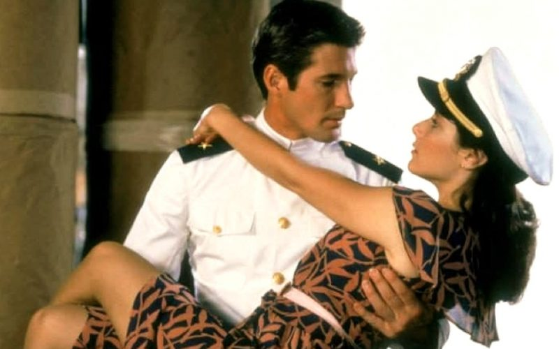 richard gere, debra winger, an officer and a gentleman, carry in arms, bridal carry