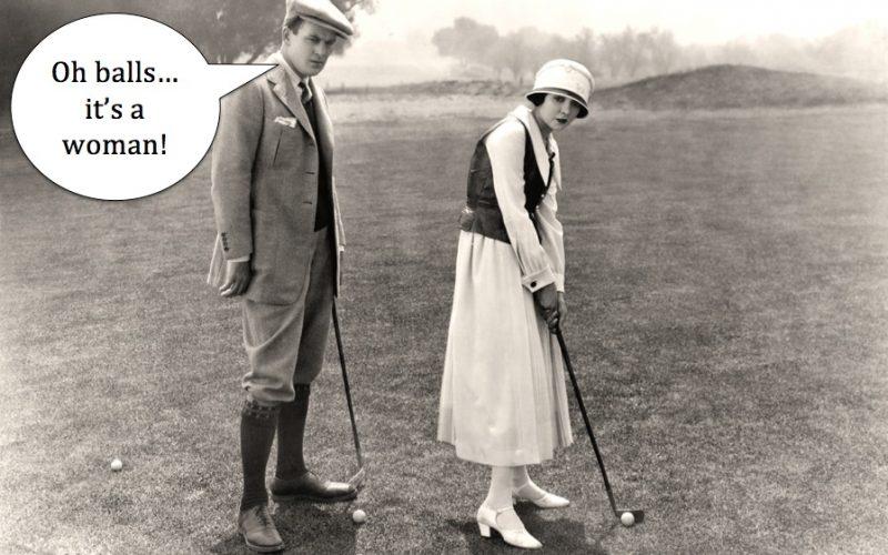 vintage, golf, golf course, woman golfer, muirfield