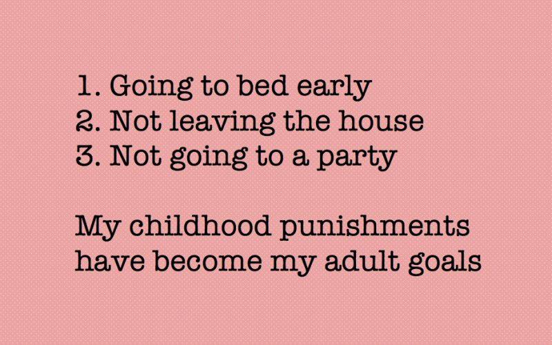 childhood punishments, adult goals, evolving, punishments, adult treats