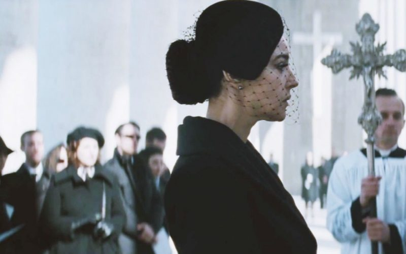 monica bellucci, spectre, james bond, funeral, die, death, woman in black