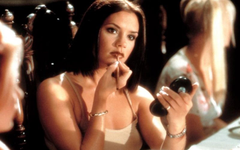 spice girls, spice world, posh spice, victoria beckham, 90s beauty disasters, makeup, brown lipstick