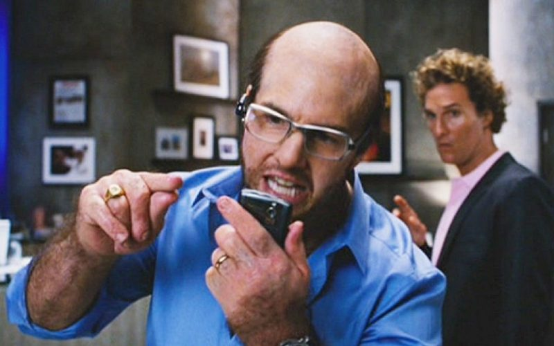 tom cruise, tropic thunder, phone on speaker, annoying, phone behaviour
