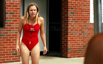 kristen bell, swimsuit, lifeguard, swimming costume, swimming