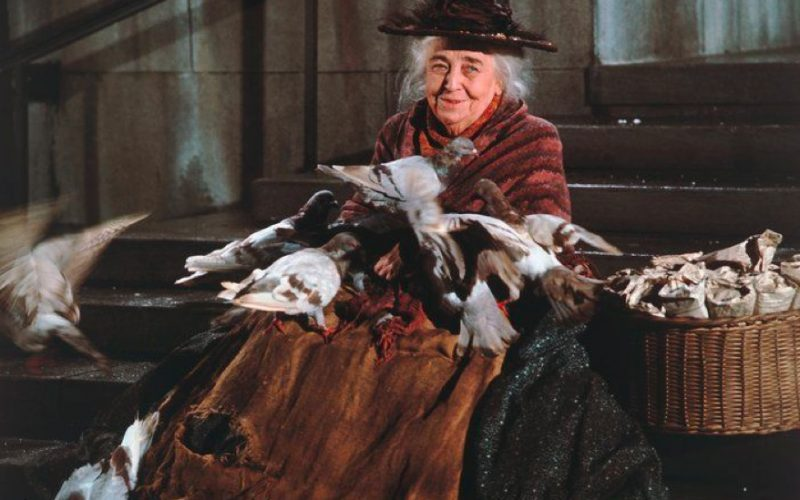 pigeon lady, mary poppins, parents are broke, poor, money worries