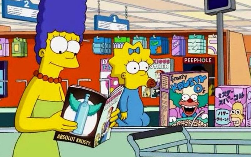 simpsons, marge, maggie, supermarket, shopping bag, grocery bag