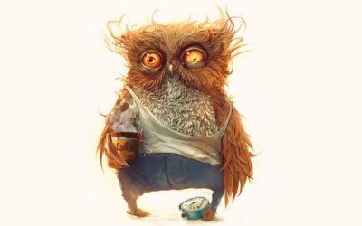 exhausted, tired, insomnia, tiredness one upmanship, owl