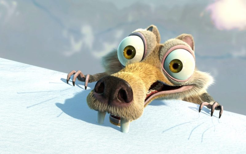 scrat, squirrel, ice age, saber tooth squirrel, tense, stressed, worry, panic, too tense